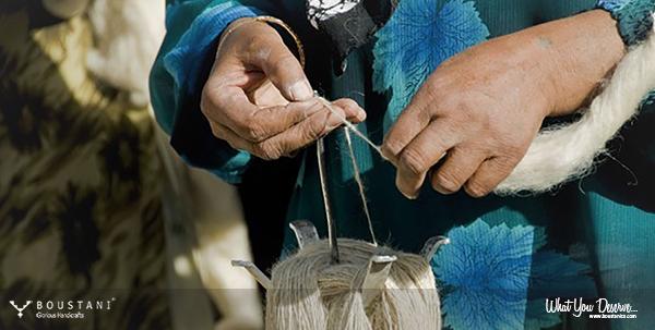 Rugs of Kashan-Hand spun Persian wool.Boustani Rug