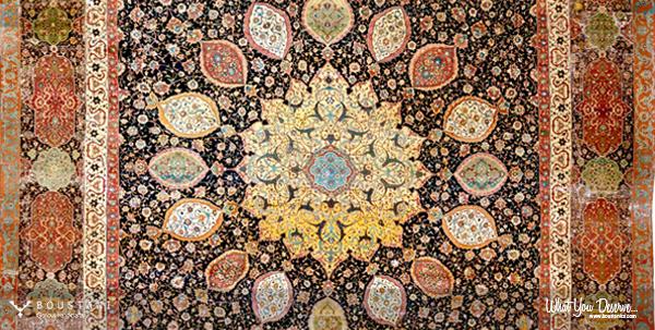 Boustani Carpets.Ardabil Carpet.mid-16th century-V&A Museum, London