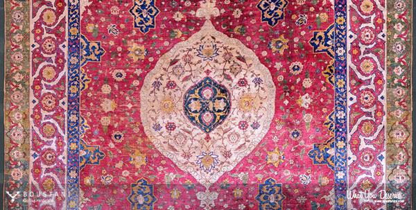 Boustani Carpet.The Rothschild Small Silk Medallion Carpet