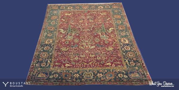 Safavid Carpets.Boustani Rug.1